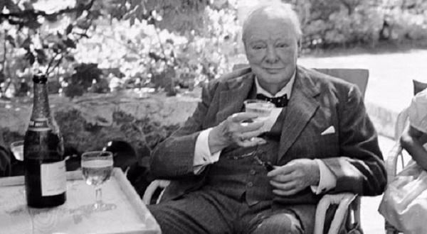 Черчилль, коли виголошував тости, говорив наступне: