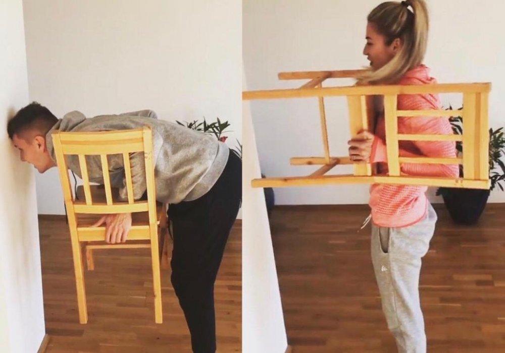 Трюк со стулом — в Сети набрал обороты новый челлендж (видео)