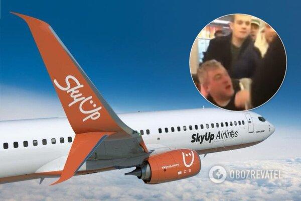 На борту самолета во Львове произошла массовая драка (видео)