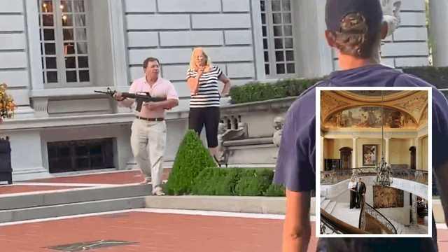 Появилось фото дома в Сент-Луисе, который пара с оружием защитила от BLM