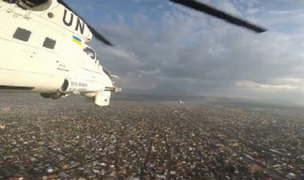 Полеты над вулканом и джунглями: украинские вертолетчики показали впечатляющие кадры своей службы в Конго (видео)