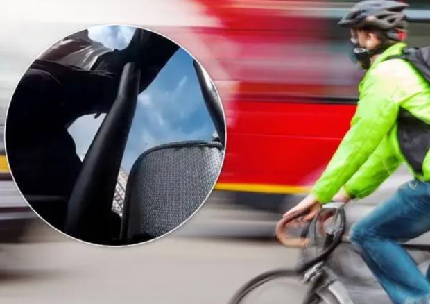 Наздогнав, щоб «покарати»: У Києві водій побив велосипедиста через зауваження (відео)