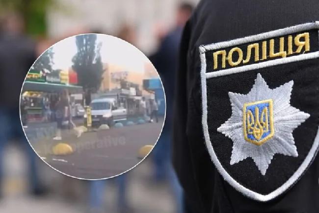 В Киеве водитель одним ударом вырубил пешехода. Может кто видел лично эту ситуацию и разглядел номер авто?