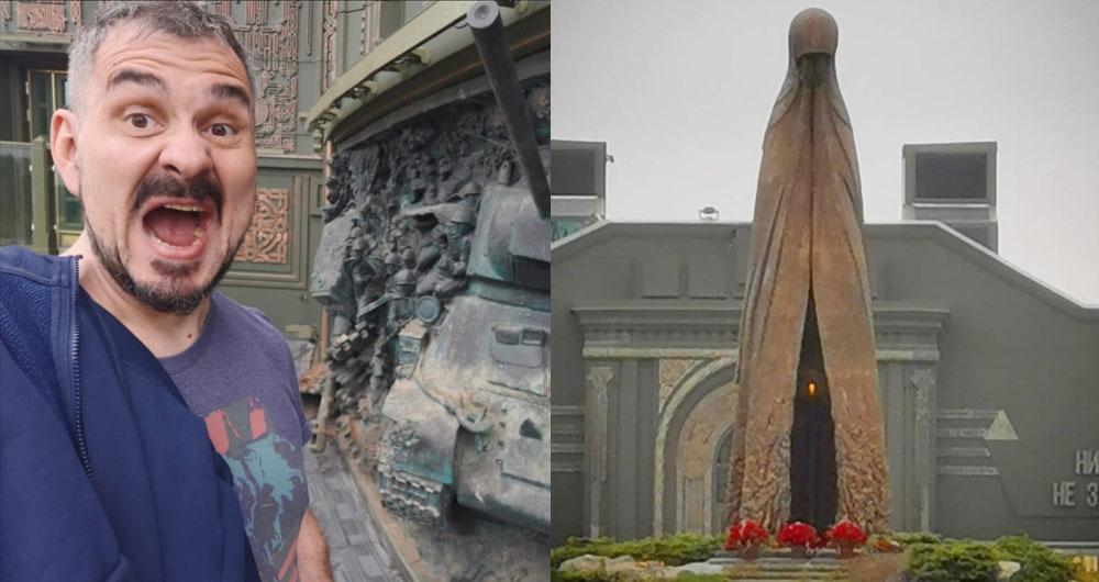 Россиянин: «Посетил главный храм Вооружённых сил. Иконы, советские знамена, сцены из Второй Мировой и Евангелие»