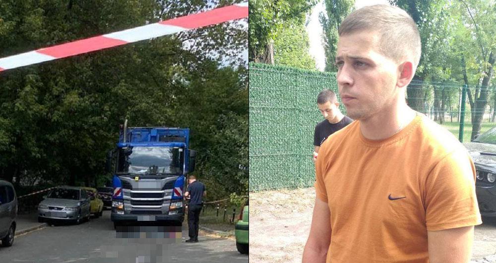 В Киеве пьяный водятел мусоровоза наехал на мать с ребенком. Женщина погибла