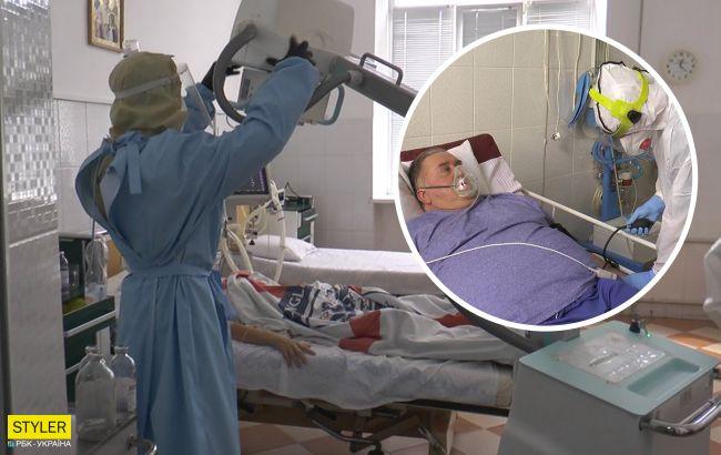Появилось видео, как лечат украинцев с коронавирусом в «красной зоне»