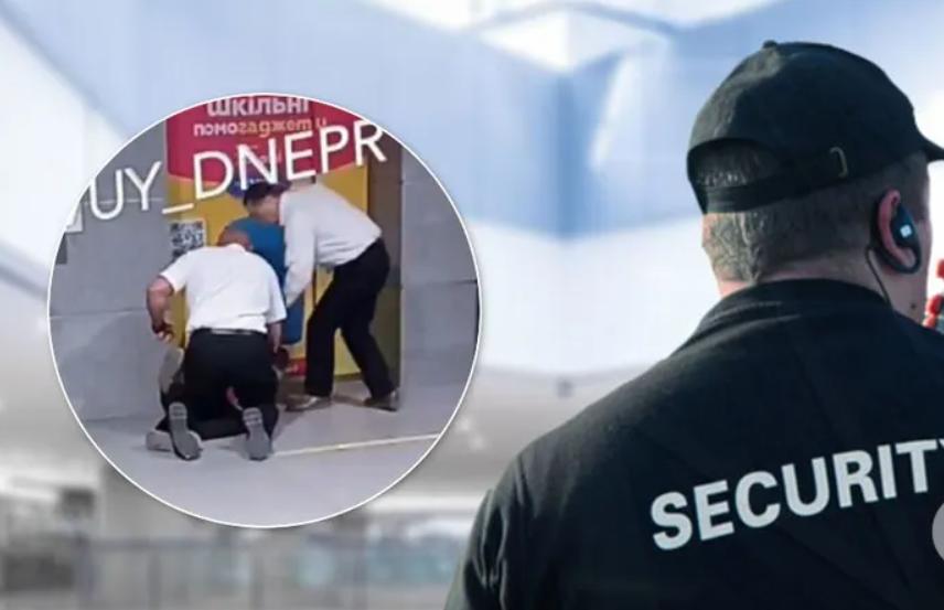 В Днепре охранники торгового центра кулаками и ногами избили ребенка. Видео