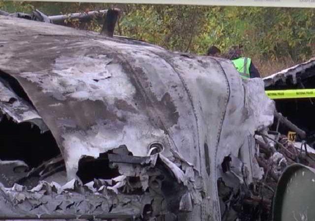 В ГСЧС опубликовали видео с места падения самолета в Харьковской области