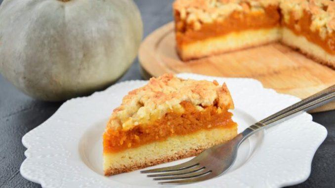 Пісочний пиріг з гарбузом: соковита начинка і хрустке тісто