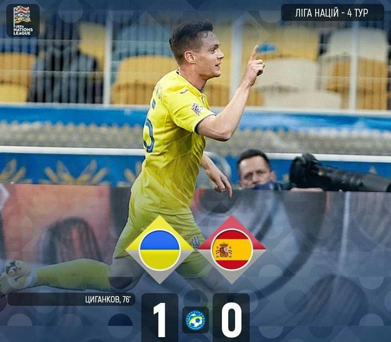 Впервые в истории: Украина сенсационно обыграла Испанию в Лиге наций