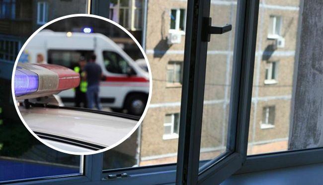 В Киеве женщина с ребенком выпала из окна: видео с места трагедии