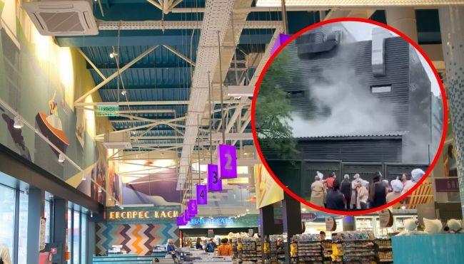 В Киеве горел крупный супермаркет: людей эвакуировали, были слышны крики