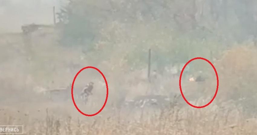 Беззаперечні докази! Військові показали, хто влаштував пожежу на Луганщині! (ВІДЕО)