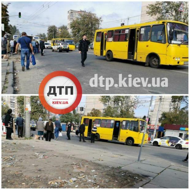 Маршрутка в Києві збила людей на зебрі: Момент ДТП потрапив на відео