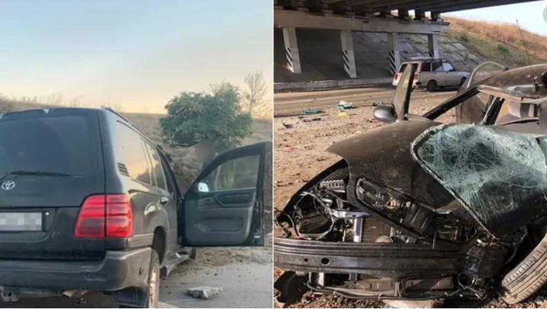 Под Одессой взорвали авто кандидата в депутаты: машина – «в решето», мужчина получил ранение. Видео