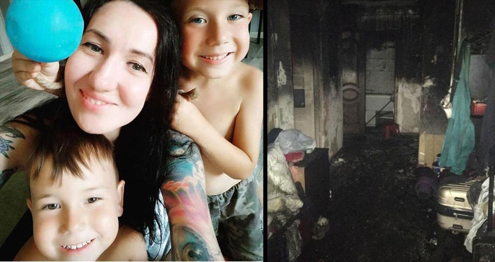 Жінка з двома дітьми втратила в пожежі дім: «Немає навіть трусиків»