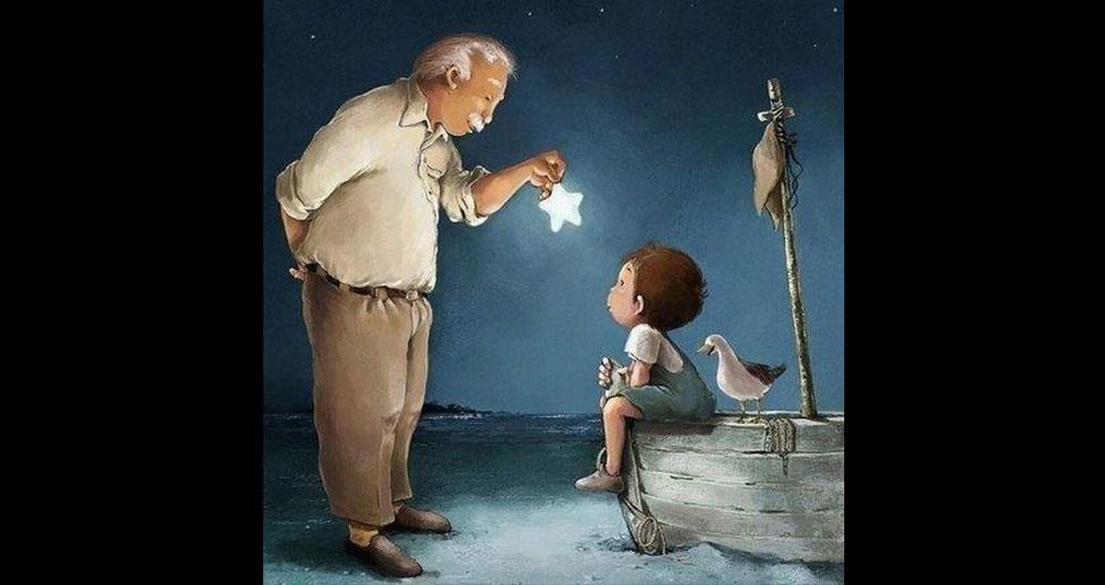 «Жили-були дід та баба… І було старій 30 років… — Скільки? — Тридцять» Як внучка з дідом розмовляли