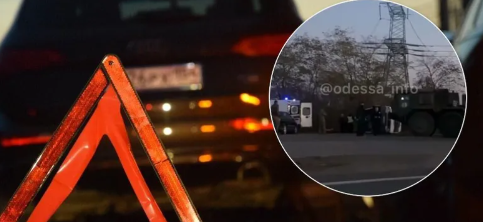 Военный тягач с танком спровоцировал ДТП, есть пострадавшая. Видео