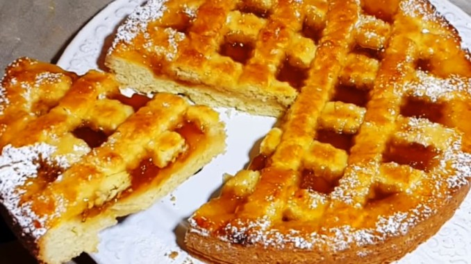 Смачний і швидкий пиріг з варенням: неймовірне розсипчасте тісто