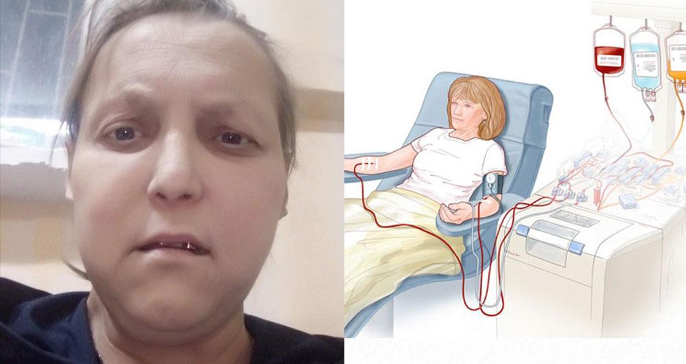 У неё неизлечимая болезнь почек. Живёт на пенсию 2000 грн. Не хватает даже на еду