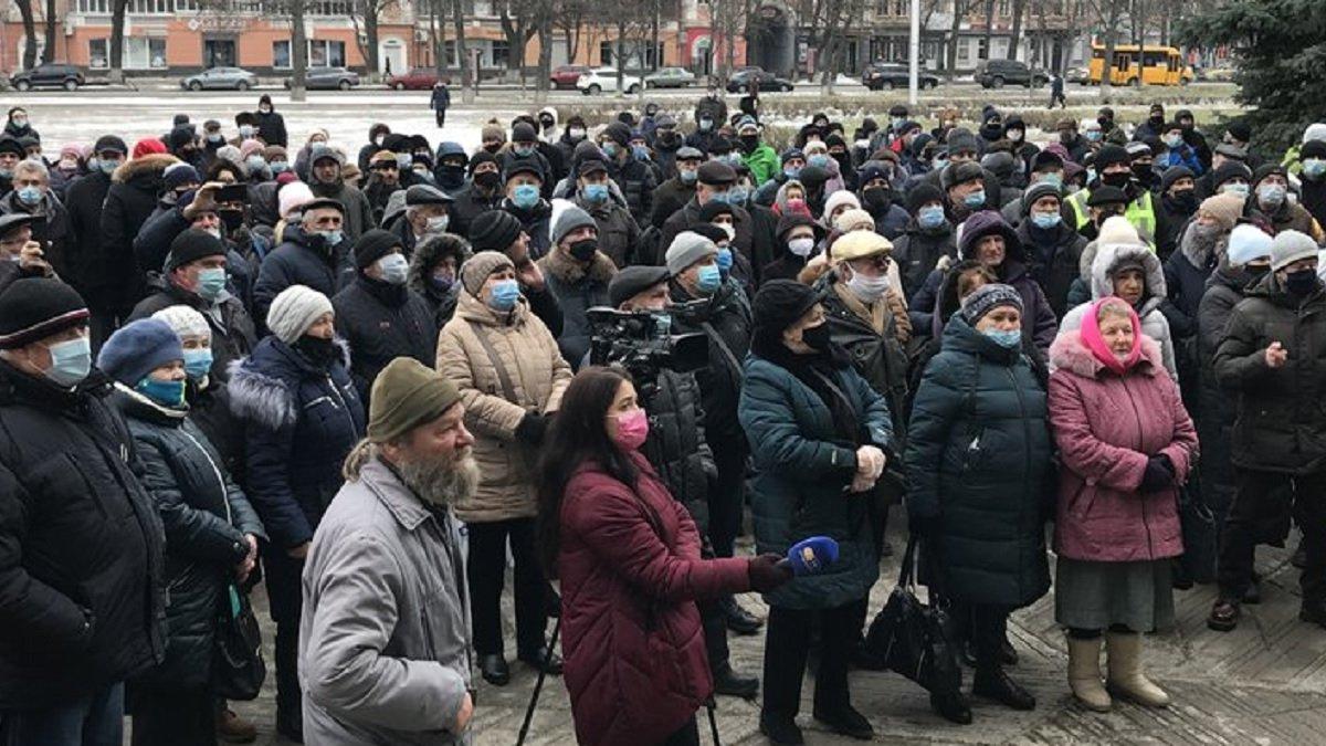 Українські міста продовжують протестувати проти нових тарифів на газ: фото
