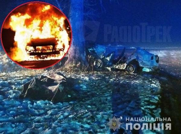 Троє людей згоріли заживо: моторошна ДТП на Житомирщині (ФОТО)