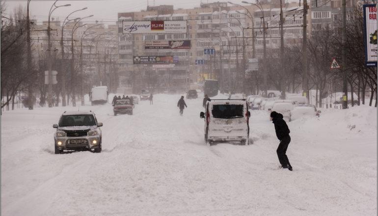 Погода на 29 января: в Киеве весь день будет валить снег
