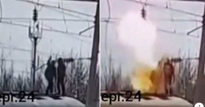 В Одесі підліток взявся за високовольтну лінію і спалахнув. На спор за 25 грн. Відео
