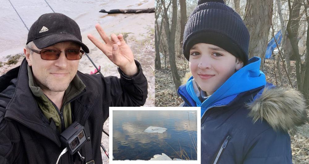 Видео. В Киеве мужчина с помощью спиннинга спас ребенка, которого унесло на льдине. Дай бог здоровья герою!