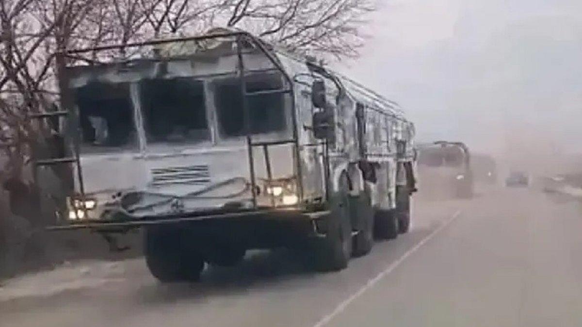 Росія перекинула до кордону з Україною ракетні комплекси «Іскандер»: відео