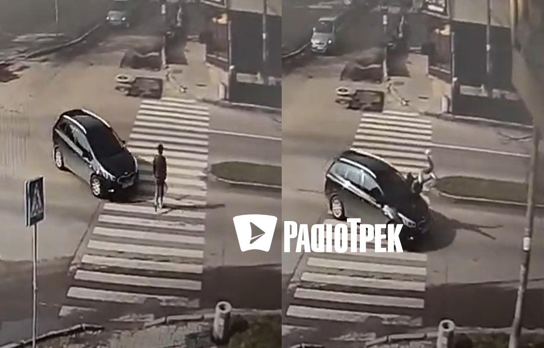 Жахливе ВІДЕО: водій зніс жінку на переході в м.Рівне (ОНОВЛЕНО)