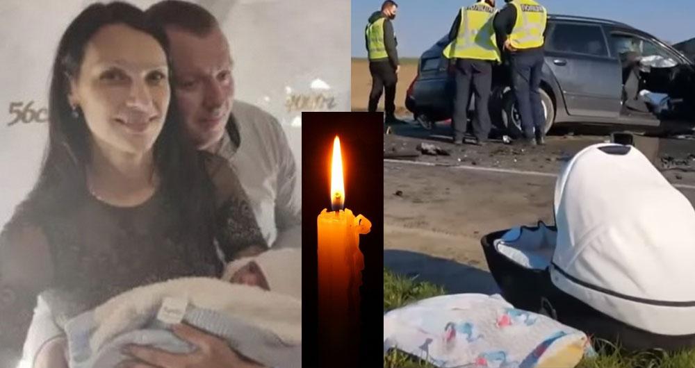 Младенца везли на переднем сиденье без автокресла: Видео о ДТП, где погибла вся семья