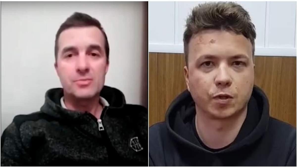 Його змусили, – батько Протасевича вважає, що на відео у сина зламаний ніс та грим на обличчі