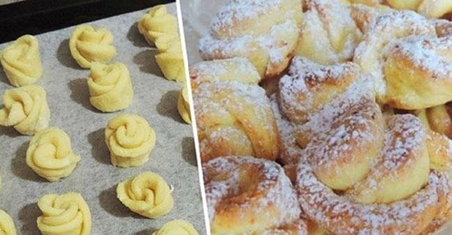 Как приготовить творожное печенье «Роза»
