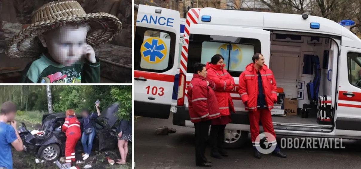 У ДТП під Києвом 12-річний хлопчик загинув у день свого народження, поліція підозрює батька