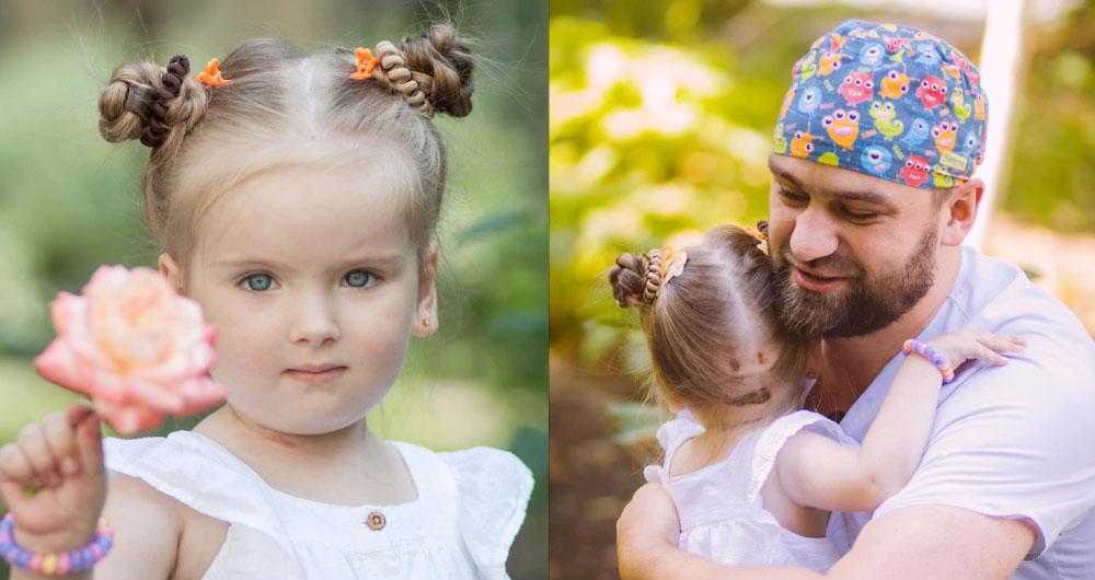 3-летнюю Киру из Запорожья, у которой было 100% поражение легких, выписали из больницы