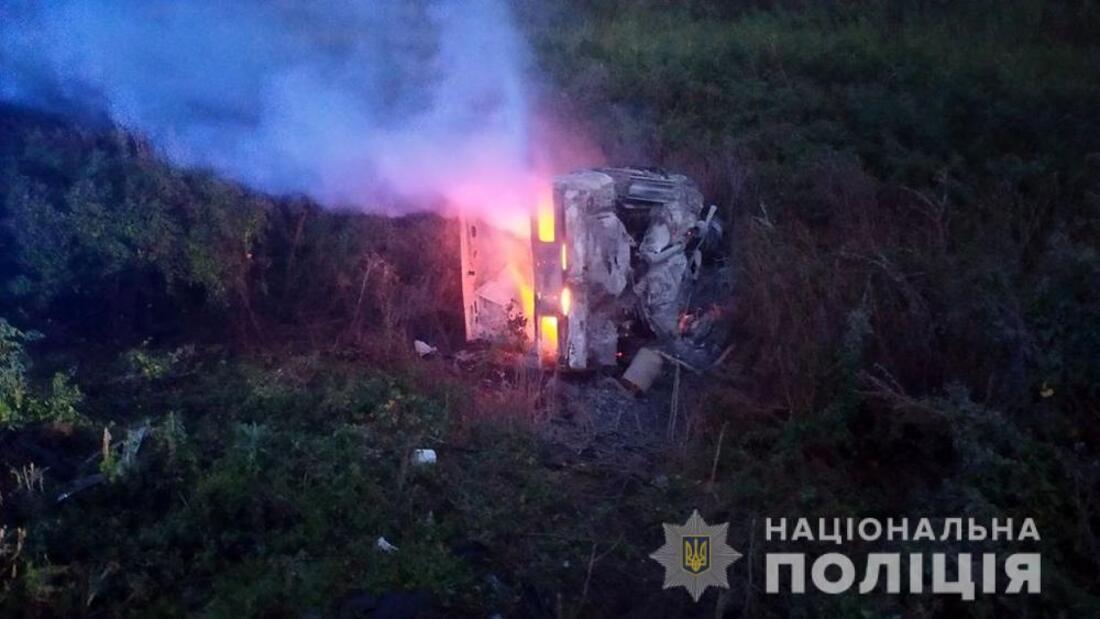 В Васильевском районе в ДТП сгорели трое детей и двое взрослых. Фото