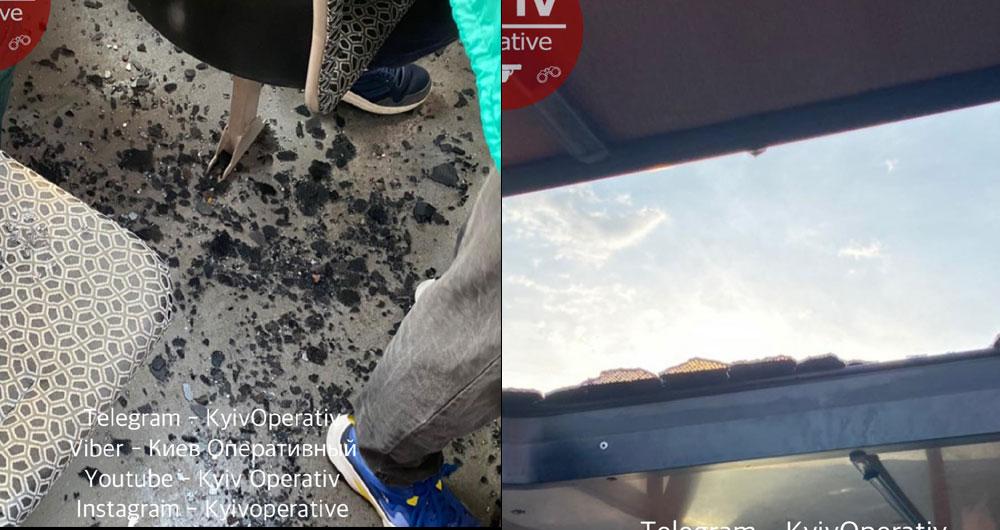 В маршрутке «Буча — Академгородок» на пассажиров упало и разбилось стекло. Водитель не остановился